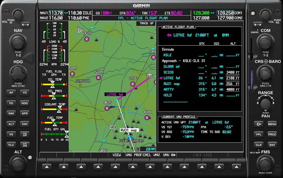 Garmin G1000 Student Simulator